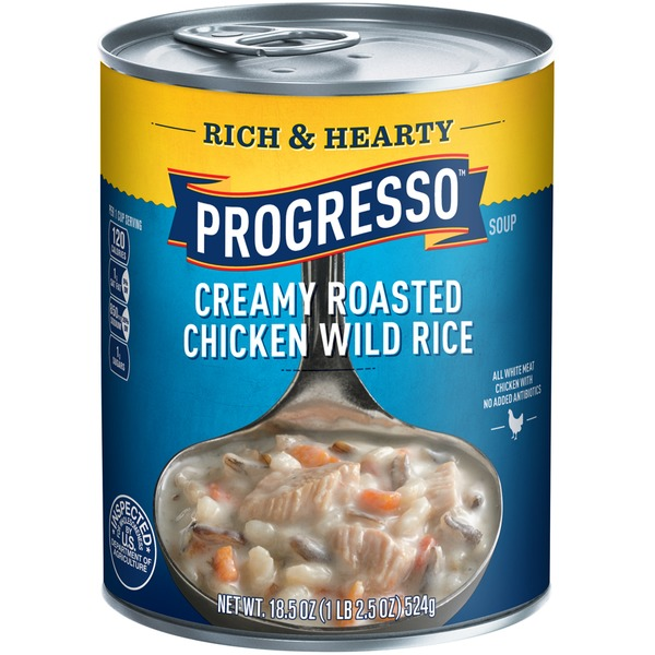 Progresso Rich & Hearty Creamy Roasted Chicken Wild Rice Soup