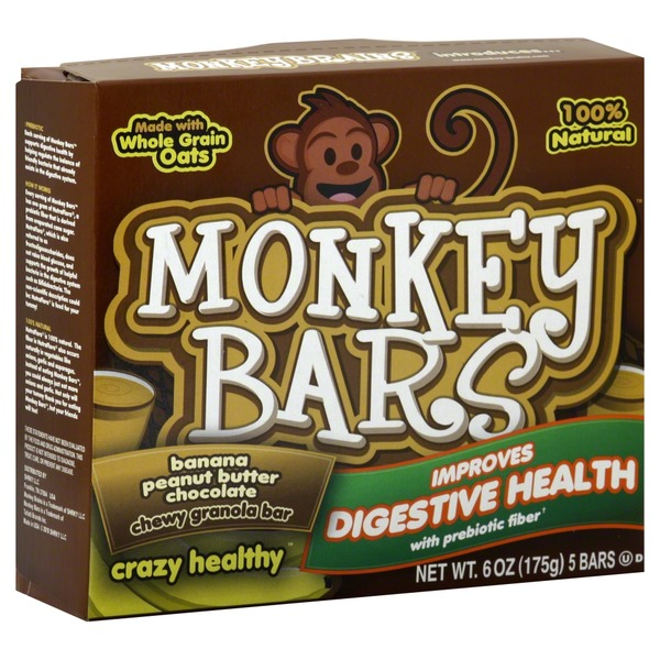 Monkey Bars Granola Bar, Chewy, Banana Peanut Butter Chocolate
