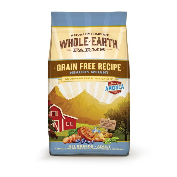 Whole Earth Farms Grain Free Recipe Healthy Weight All Breeds - Adult Natural Food for Dogs