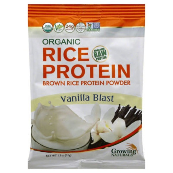 Growing Naturals Brown Rice Vanilla Blast Protein Powder