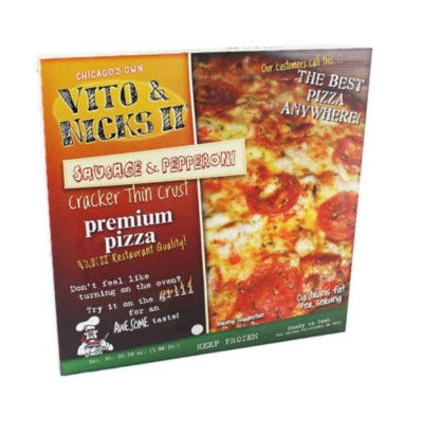 Vito & Nick's Sausage & Pepperoni Pizza