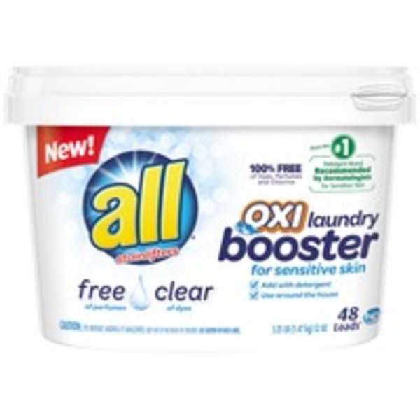 All With Stainlifters Oxi Free Clear for Sensitive Skin 48 Loads Laundry Booster