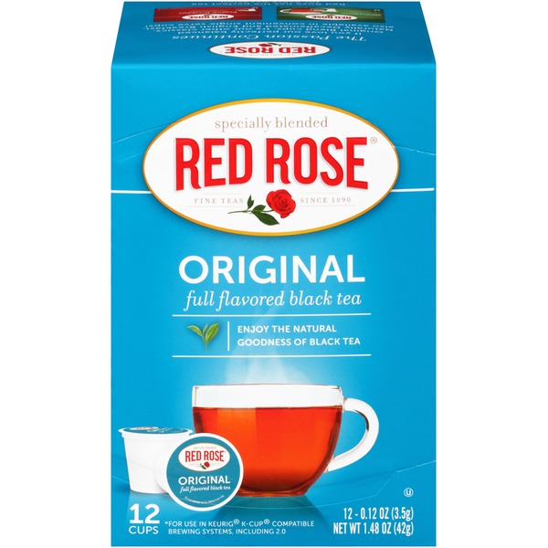 Red Rose Original Black Single Serve Cups Tea