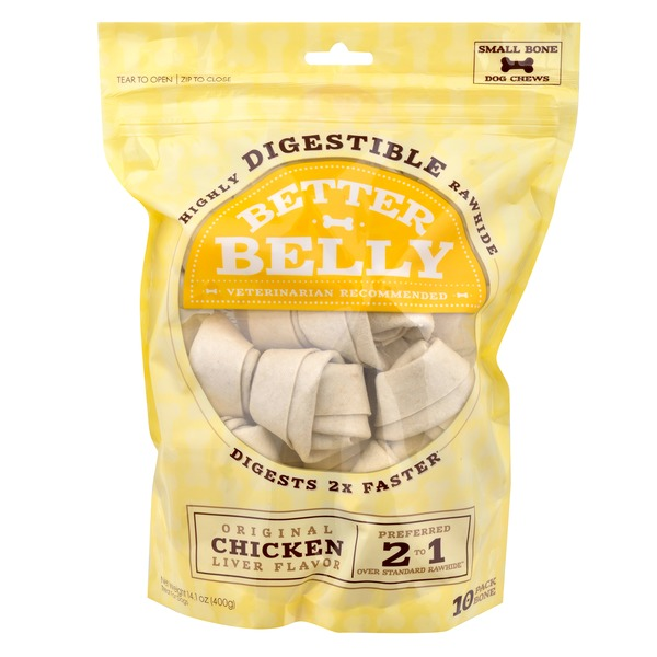 Better Belly Highly Digestible Rawhide Original Chicken Liver Flavor