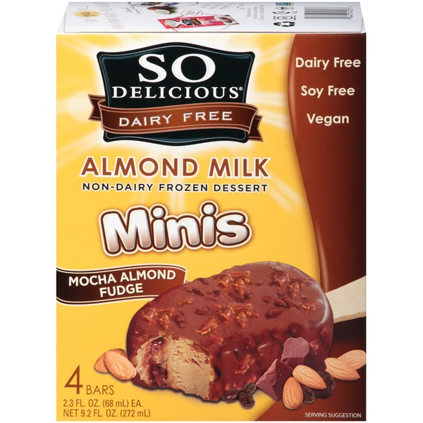 So Delicious Dairy Free Minis Mocha Almond Fudge Almond Milk Bars