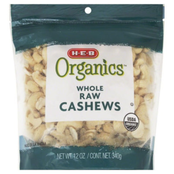 H-E-B Organics While Raw Cashews