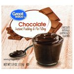 Great Value Instant Pudding & Pie Filling, Chocolate, 3.9 oz