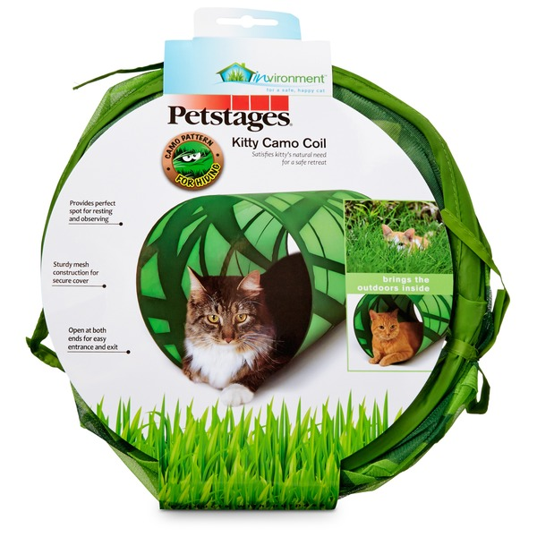 Petstages Camo Print Crinkle Cat Tunnel