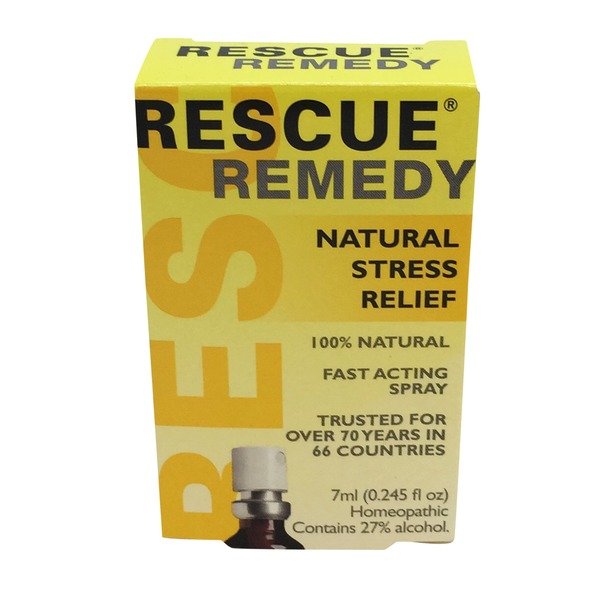 Bach Rescue Remedy Natural Stress Relief Fast-Acting Spray