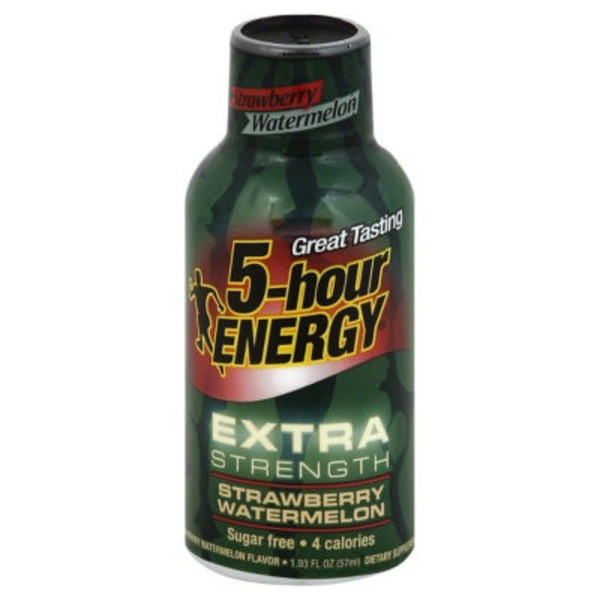 5-Hour Energy Extra Strength Dietary Supplement Strawberry Watermelon