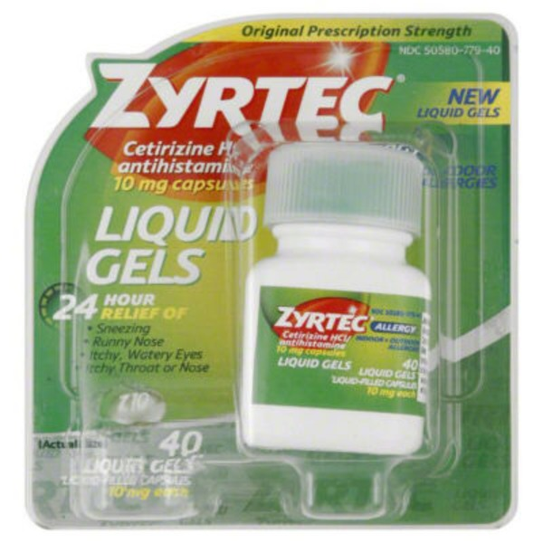 Zyrtec® Allergy 24 Hour 10mg Liquid Gels