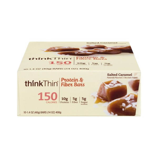 thinkThin Lean Protein & Fiber Bar Salted Caramel  - 10 CT