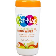 Wet-Nap Citrus Scent Antiba cterial Hand Wipes, 40 sheets