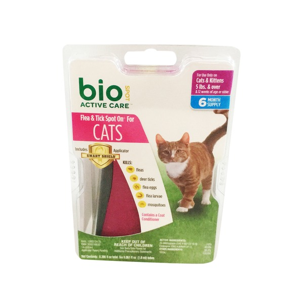 Bio Spot Active Care Flea & Tick Spot On Cat Applicator