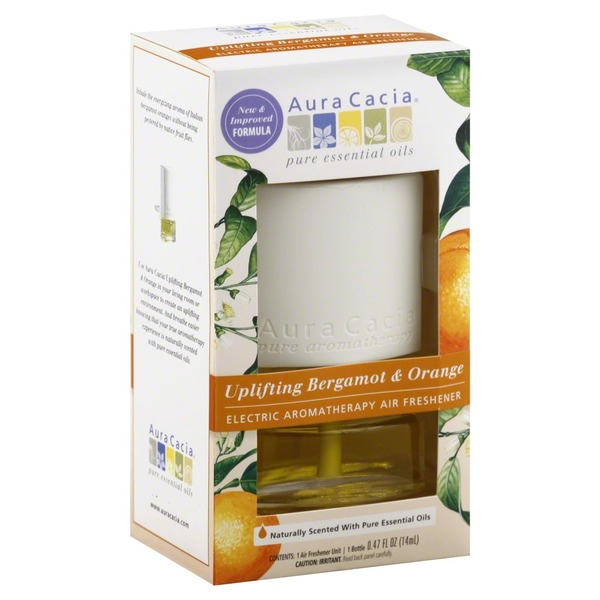 Aura Cacia Air Freshener, Electric, Aromatherapy, Uplifting Bergamot & Orange