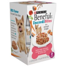 Purina Beneful IncrediBites with Real Salmon, Tomatoes, Carrots & Wild Rice Dog Food 3-3 oz. Cans