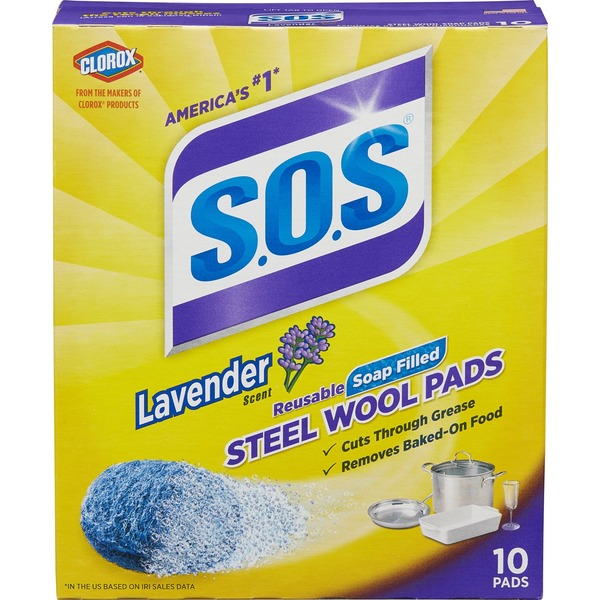 S.O.S. Lavender Scent Steel Wool Soap Pads