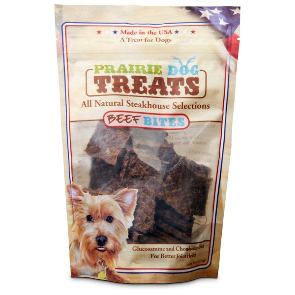 Prairie Dog Steakhouse Selections Beef Jerky Bites Dog Treats