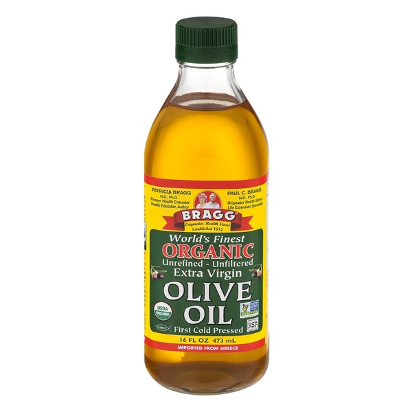 Bragg World's Finest Organic Unrefined - Unfiltered Extra Virgin Olive Oil