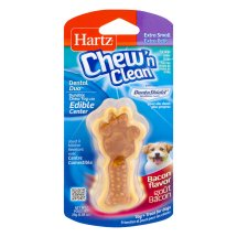 Hartz Chew 'n Clean Extra Small Dog Treat Bacon, 0.88 OZ