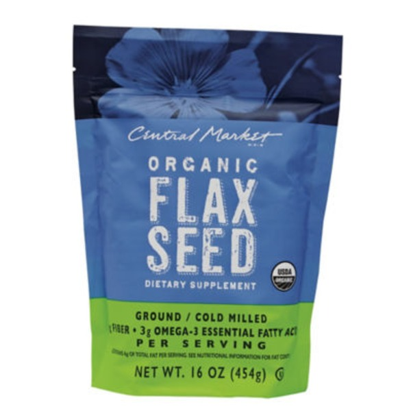 Central Market Organic Flaxseed Dietary Supplement