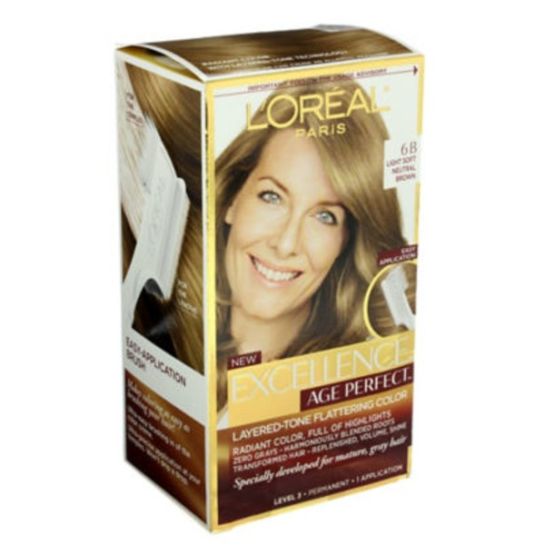 Excellence Age Perfect 6B Light Soft Neutral Brown Hair Color