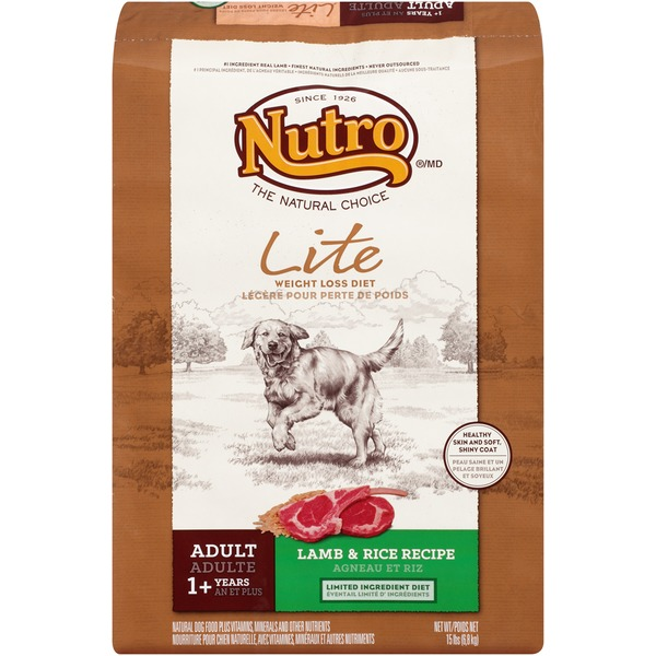 Nutro Adult Lite Weight Loss Lamb & Rice Recipe Dog Food