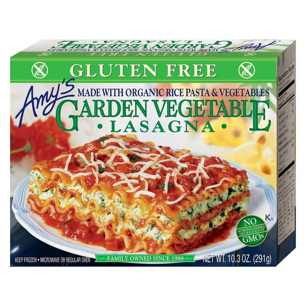 Amy's Gluten Free Garden Vegetable Lasagna