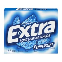 Wrigley Extra Extra Peppermint Sugarfree Gum - 15 CT