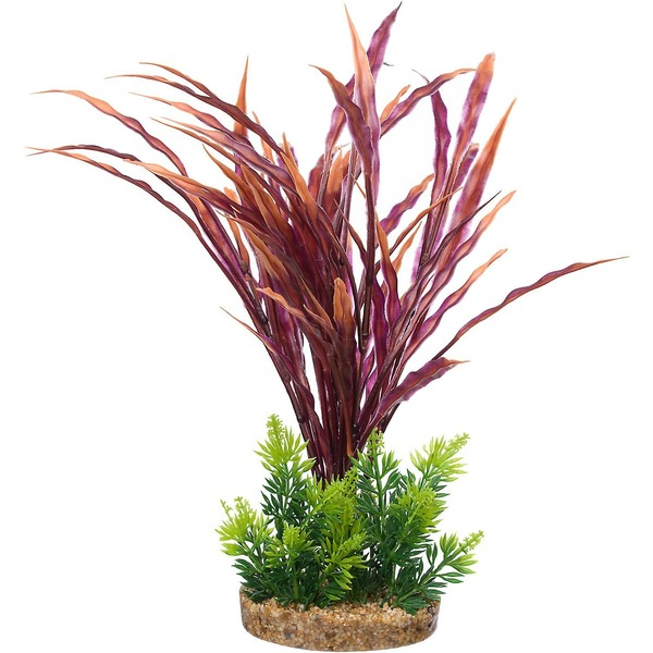 Petco Red & Green Fiesta Atlantis Plastic Aquarium Plant