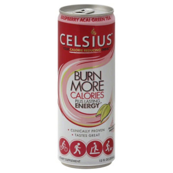 Celsius Live Fit Non-Carbonated Raspberry Acai Green Tea Dietary Supplement