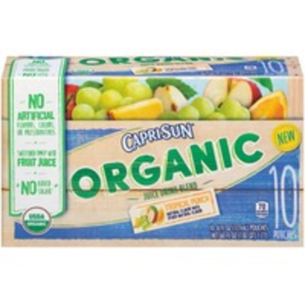 Caprisun Organic Tropical Punch Juice Drink