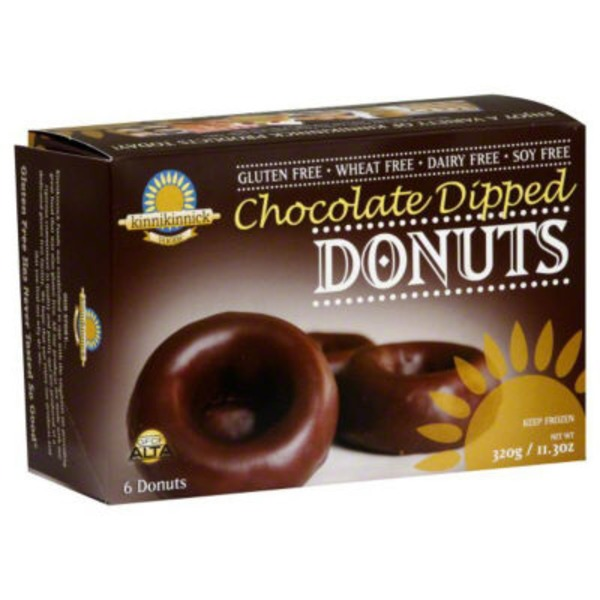 Kinnikinnick Foods Foods Donuts Chocolate Dipped Gluten Free - 6 CT