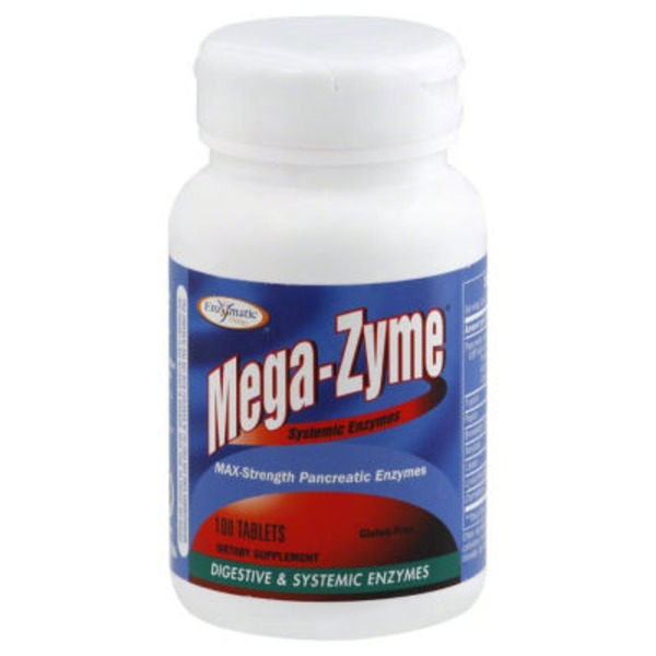 Enzymatic Therapy Mega-Zyme, Max-Strength, Tablets