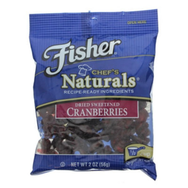 Fisher Chef's Naturals Dried Sweetened Cranberries
