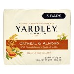 Yardley London Oatmeal & Almond Naturally Moisturizing Bath Bars, 4.25 oz, 3 count