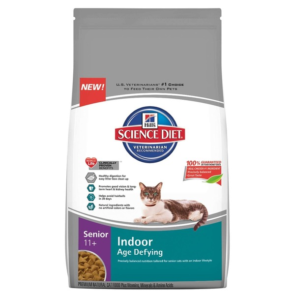 Hill's Science Diet Senior 11+ Indoor Age Defying Senior Premium Cat Food