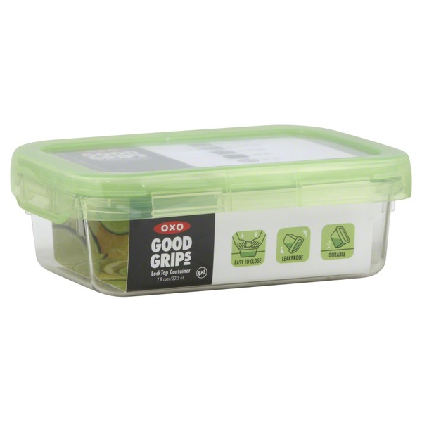 OXO Container, Lock Top, 2.8 Cups/22.5 Oz, Green