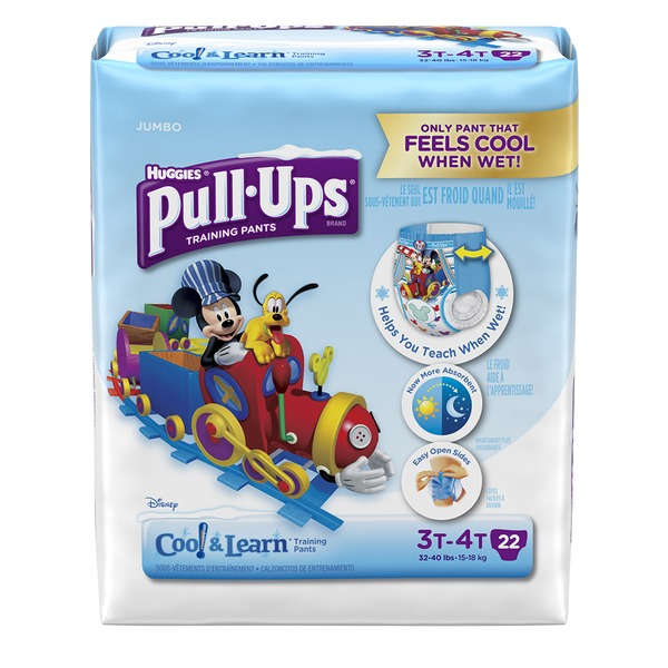 Huggies Pull-Ups Training Pants Jumbo Cool & Learn 3T-4T - 22 CT