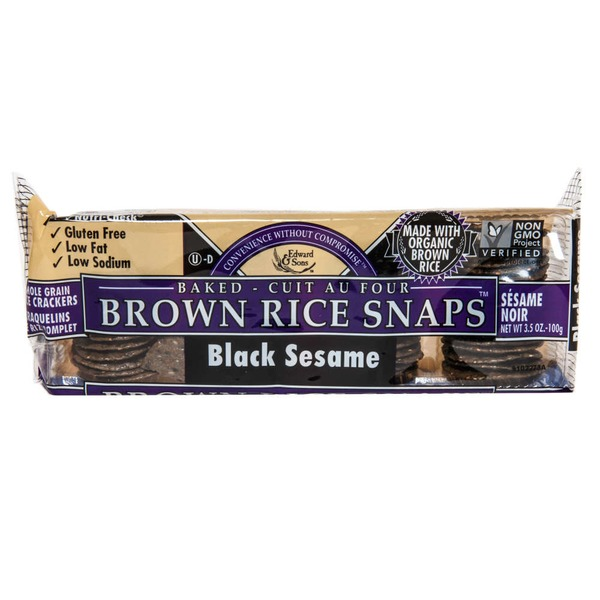 Edward & Sons Brown Rice Snaps Black Sesame