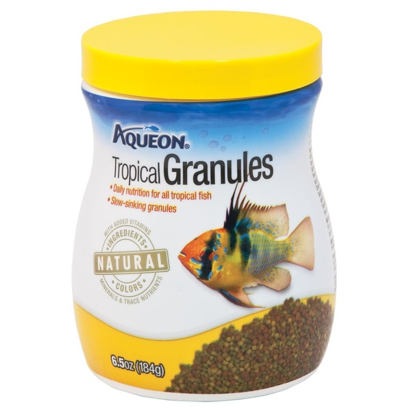 Aqueon Tropical Granules Daily Nutrition for All Tropical Fish Slow Sinking Granules