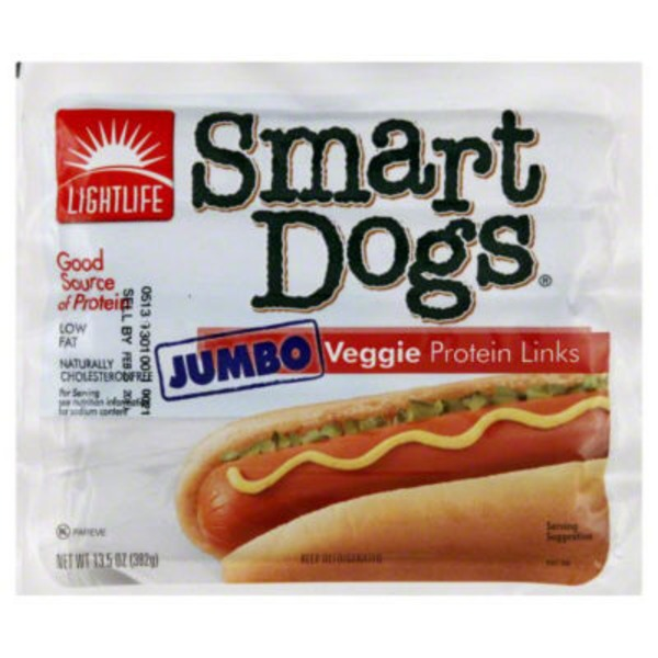 Lightlife Jumbo Veggie Protein Smart Dogs Links
