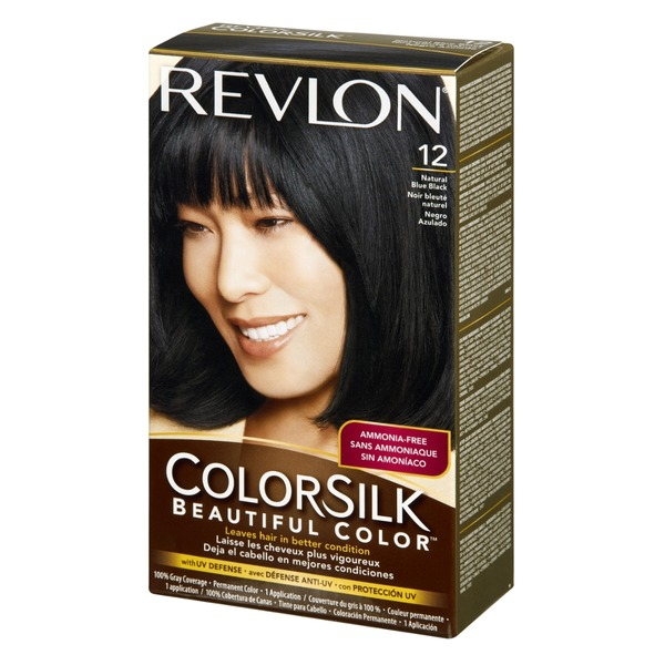 Revlon ColorSilk 12 Natural Blue Black Permanent Hair Color
