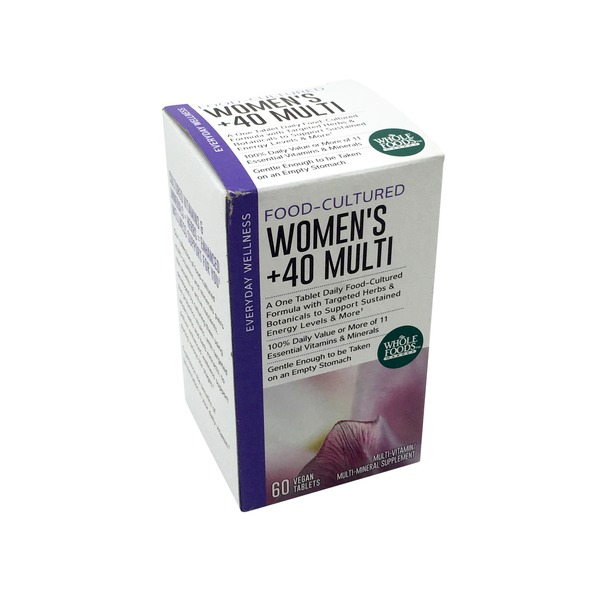 Whole Foods Market Multi Women's 40 Plus Food Cultured Tablets