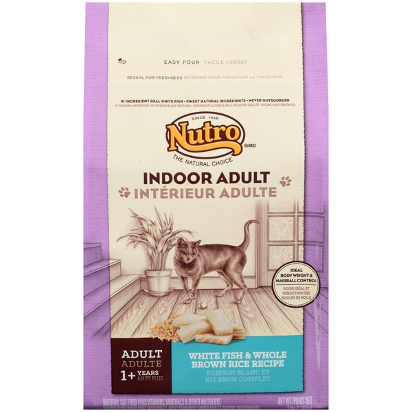 Nutro Indoor Adult White Fish & Whole Brown Rice Recipe Cat Food