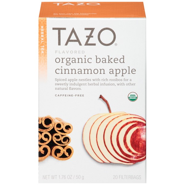 Tazo Tea Herbal Tea Organic Baked Cinnamon Apple Caffiene-Free Tea Bags