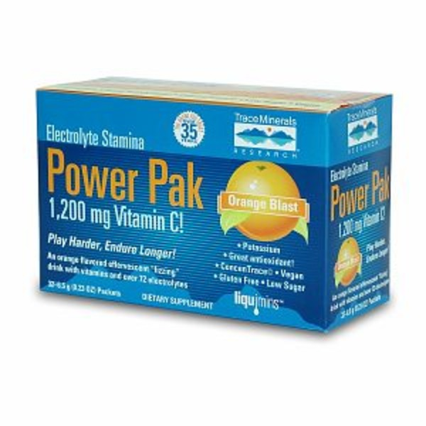 Trace Minerals Research Electrolyte Stamina Power Pak 1200mg - Orange