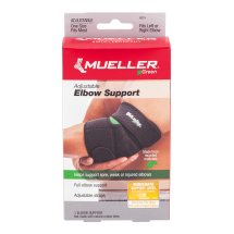 Mueller Green Antimicrobial Adjustable Elbow Support, Moderate Support