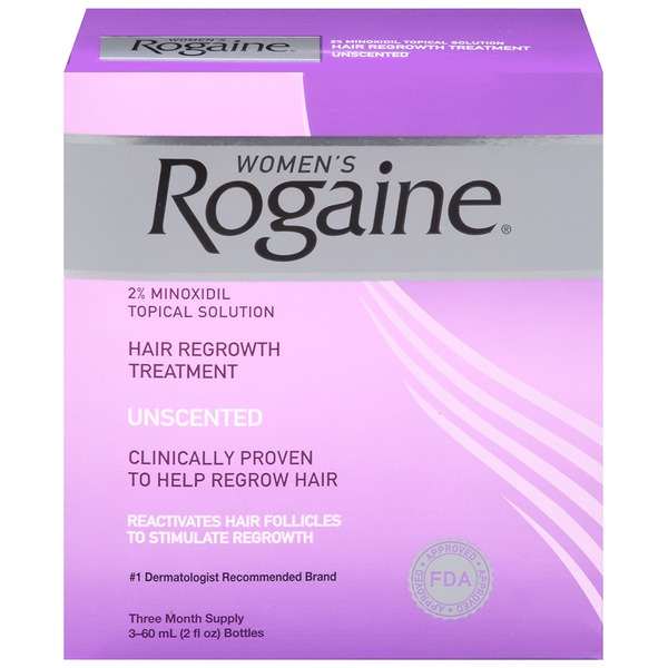 Women's Rogaine® Hair Regrowth Treatment Solution, 3 Month Supply