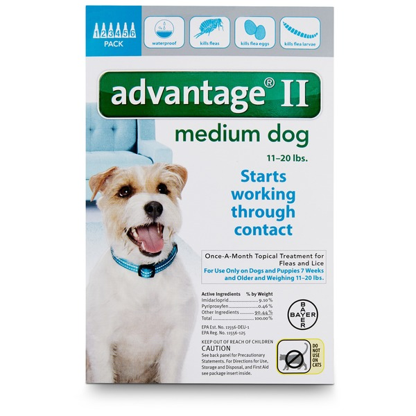 Advantage II Once A Month Topical Medium Dog Flea Treatment, 11-20 lb